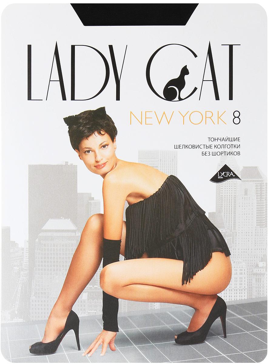 Колготки женские Lady Cat New York 8, цвет: черный. Размер 4 (46) new hot sale miraculous ladybug and cat noir juguetes toy doll lady bug adrien marinette plagg tikki plush doll
