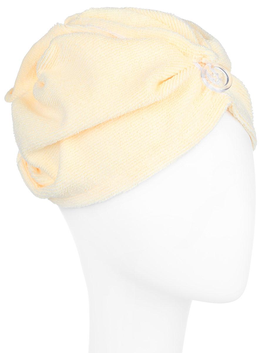Чалма для бани Soavita, цвет: желтый51630Чалма для бани и сауны Soavita, изготовленная из микрофибры, станет незаменимым аксессуаром для любителей попариться в русской бане и для тех, кто предпочитает сухой жар финской бани. Кроме того, чалма защитит волосы от сухости и ломкости, голову от перегрева и предотвратит появление головокружения. Такая чалма станет отличным подарком для любителей отдыха в бане или сауне.