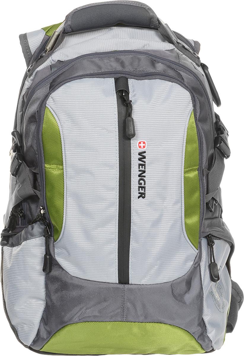 """Рюкзак Wenger """"Large Volume Daypack"""", """"Large Volule Daypack"""", цвет: зеленый, серый, 43 х 32 х 18 см, 30 л"""
