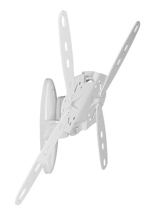Holder LCDS-5025М, White кронштейн для ТВLCDS-5025М, белыйКрепление для ТВ и мониторов Holder LCDS-5025 отличается конструкцией, предусматривающей наклонно-поворотный механизм регулировки. Настройка поворота возможна как вверх-вниз, так и по оси. За регулировку отвечают три отдельных шарнира.
