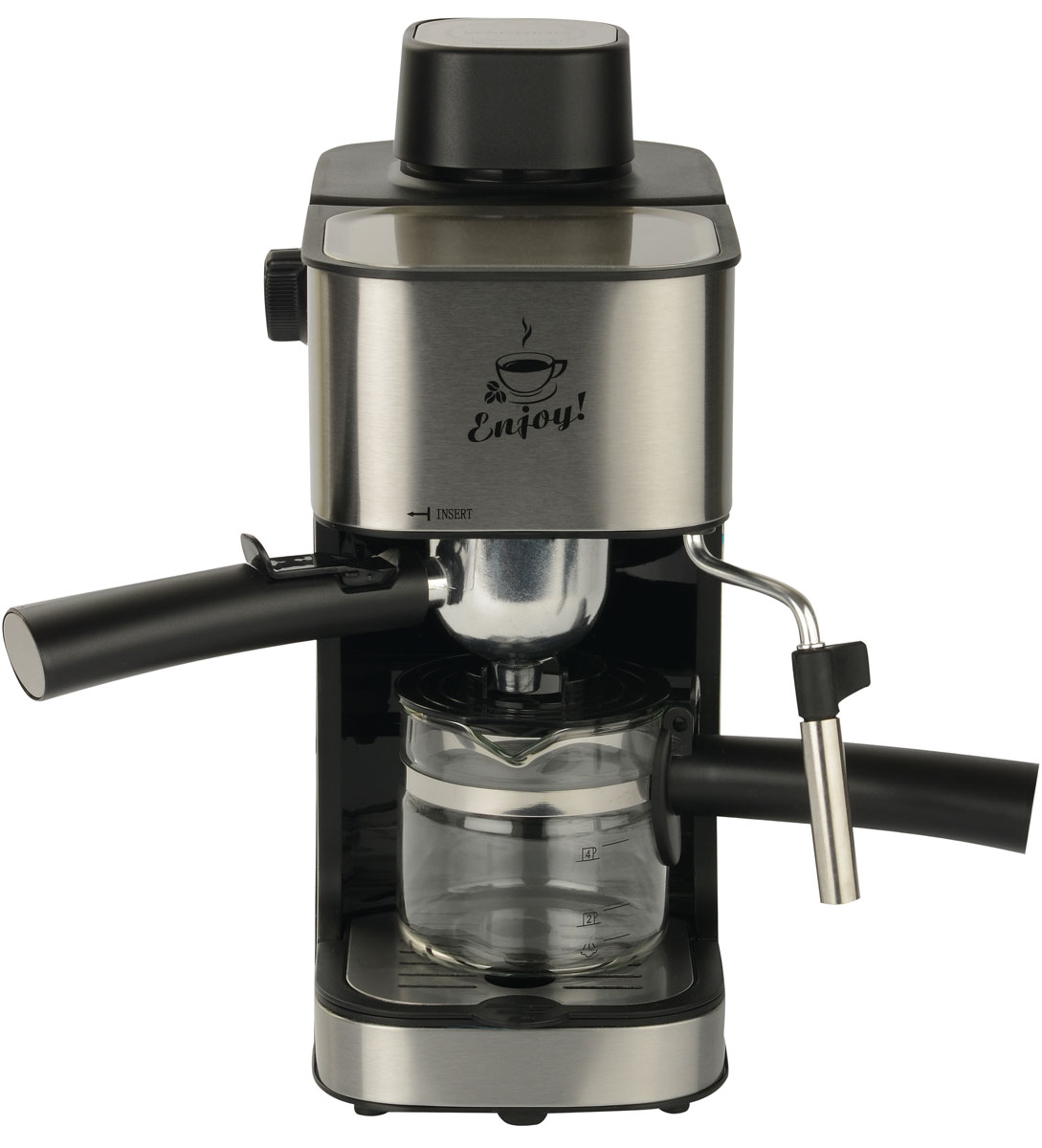 First FA-5475-2, Silver кофеваркаFA-5475-2 SteelFirst FA-5475-2 - превосходная рожковая кофеварка для приготовления ароматного эспрессо на каждый день. Данная модель оборудована насосной системой давления на 4 бар. Прибор оснащен съемным лотком для сбора капель и предохранительным клапаном для обеспечения комфортного использования. Также имеется светодиодный индикатор питания. Емкость кофеварки рассчитана на 4 чашки.Как выбрать кофеварку. Статья OZON Гид