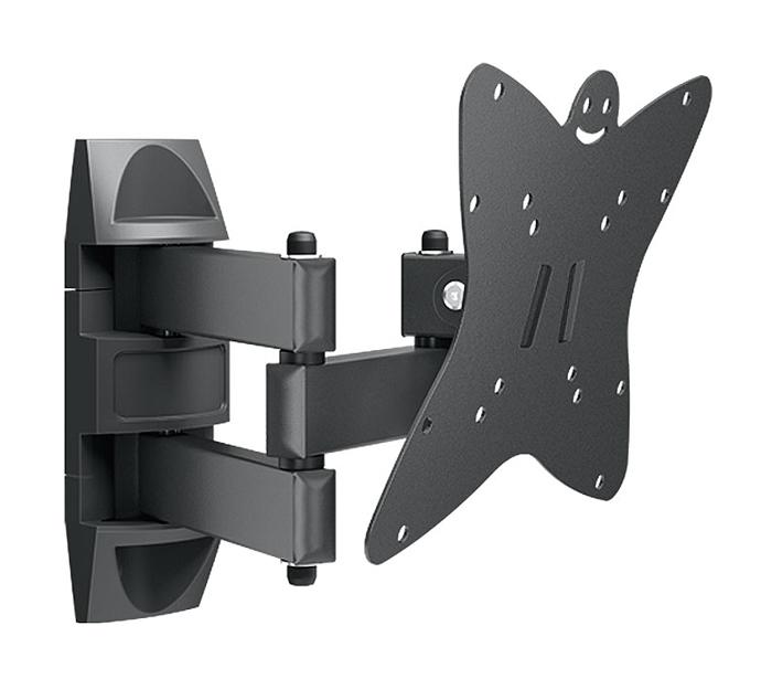 Holder LCDS-5038М, Metallic кронштейн для ТВLCDS-5038М, металликКронштейн Holder LCDS-5038М предназначен для телевизоров с диагональю экрана от 20 до 37. Этот многофункциональный кронштейн позволяет наклонять телевизор, поворачивать его и прижимать к стене. Телевизор с легкостью выравнивается по горизонтали. Простая регулировка позволяет устанавливать угол наклона и поворота ТВ движением одной руки. В набор входят все необходимые крепежи и инструкция по установке.