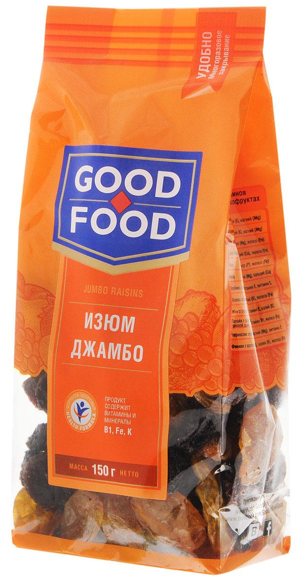 Good FoodизюмДжамбо,150г семушка изюм узбекский золотистый 150 г