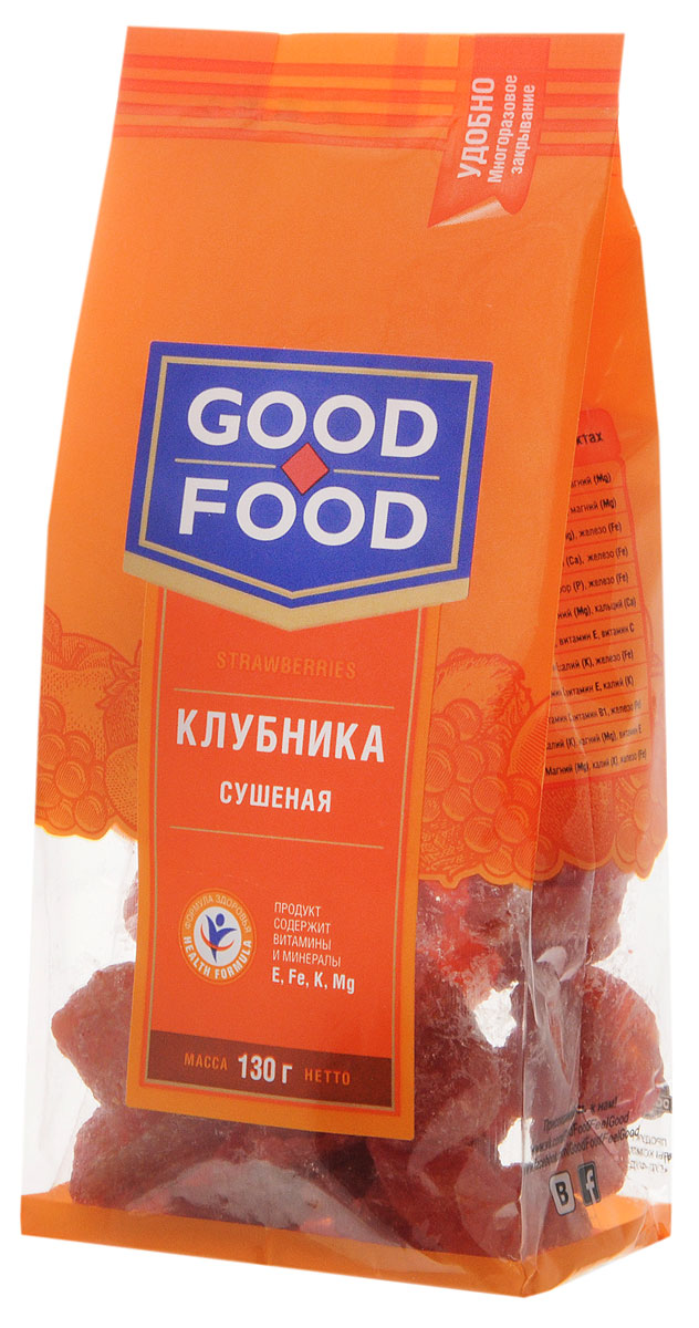 Good Food клубникасушеная,130г weider gold whey protein клубника крем пакет 500г