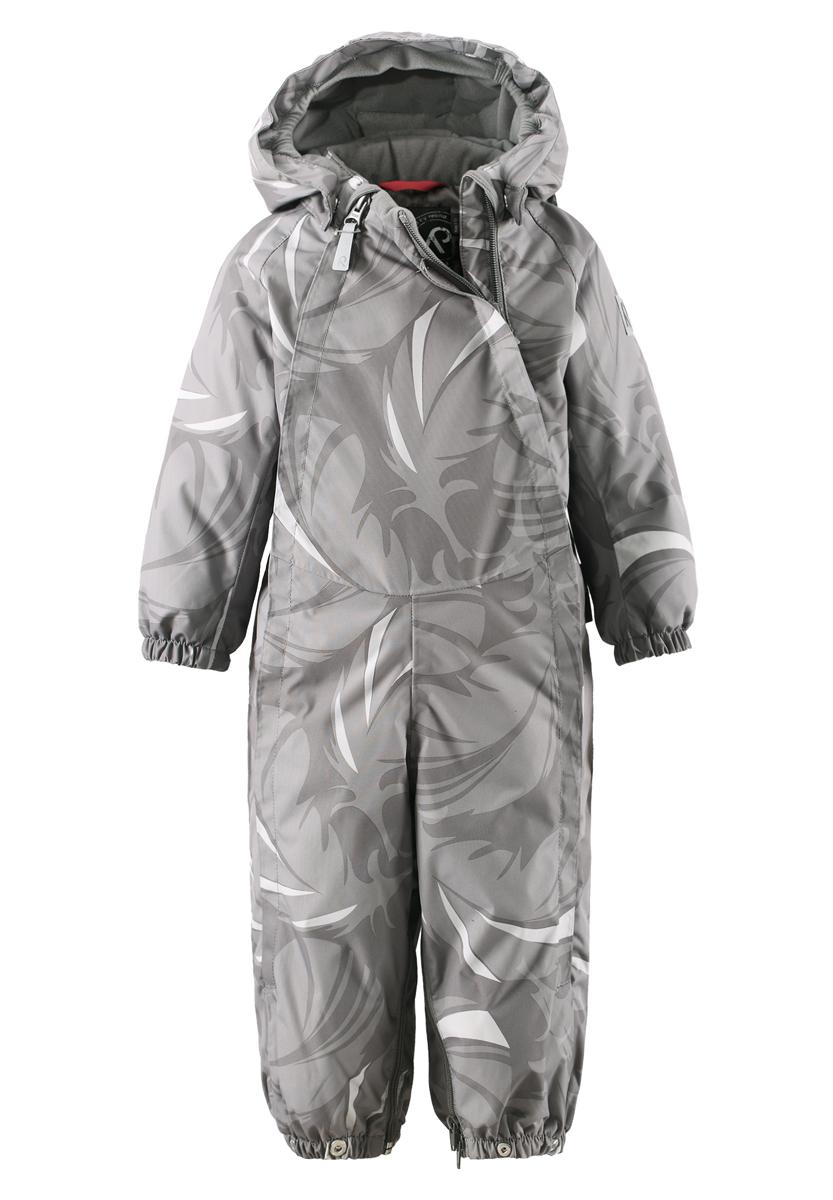 Комбинезон-трансформер детский Reima Reimatec+ Pouch, цвет: серый. 510223-9391. Размер 62510223_9391Функциональный и теплый комбинезон-трансформер Reima Reimatec+ Pouch с высокой степенью утепления идеально подойдет для малыша в холодное время года. Комбинезон изготовлен из высококачественного ветронепроницаемого, водо- и грязеотталкивающего материала с утеплителем из пуха и пера. Дышащий материал хорошо пропускает воздух. Изделие легко чистится и не требует частых стирок. Благодаря гладкой подкладке из полиэстера, модель легко надевается. Все швы проклеены, водонепроницаемы.Комбинезон-трансформер с капюшоном и длинными рукавами-реглан застегивается на две длинные пластиковые молнии с защитой подбородка, что делает процесс переодевания быстрым и удобным. Молнии закрыты ветрозащитными планками. Капюшон дополнен мягкой подкладкой, присборенной по краям. Он пристегивается к комбинезону при помощи кнопок. На рукавах имеются эластичные манжеты с мягкой подкладкой. Снизу брючины собраны на резинки и дополнены съемными силиконовыми штрипками. Оформлено изделие принтом. Благодаря удобной системе молний и кнопок на брючинах комбинезон можно легко трансформировать в конверт с рукавами. На комбинезоне предусмотрены светоотражающие элементы для безопасности ребенка в темное время суток. В таком комбинезоне вашему малышу всегда будет тепло, комфортно и уютно!Температурный режим от -10°С до -30°С.