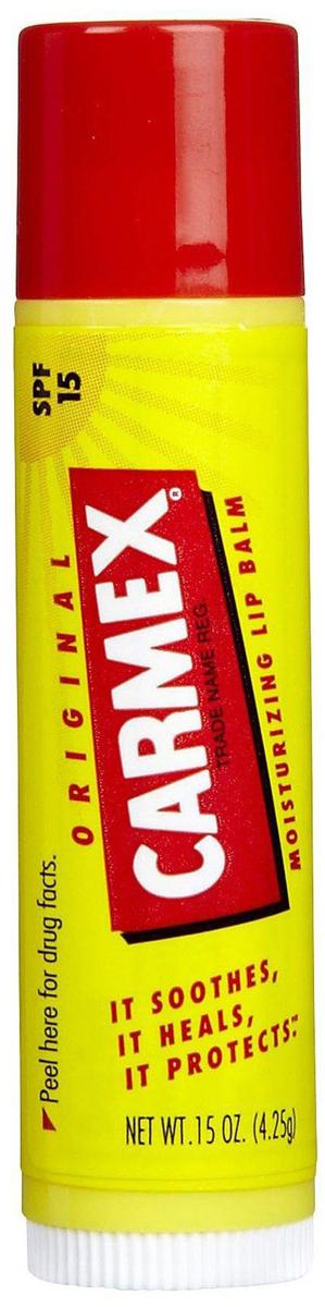Carmex Бальзам для губ классический, стик в блистере, 4,25 г29101344006Уникальная формула CARMEX содержит специальные ингредиенты, которые вызывают ощущение покалывания - это означает, что CARMEX работает; увлажняя и защищая губы, делает их мягкими и здоровыми.