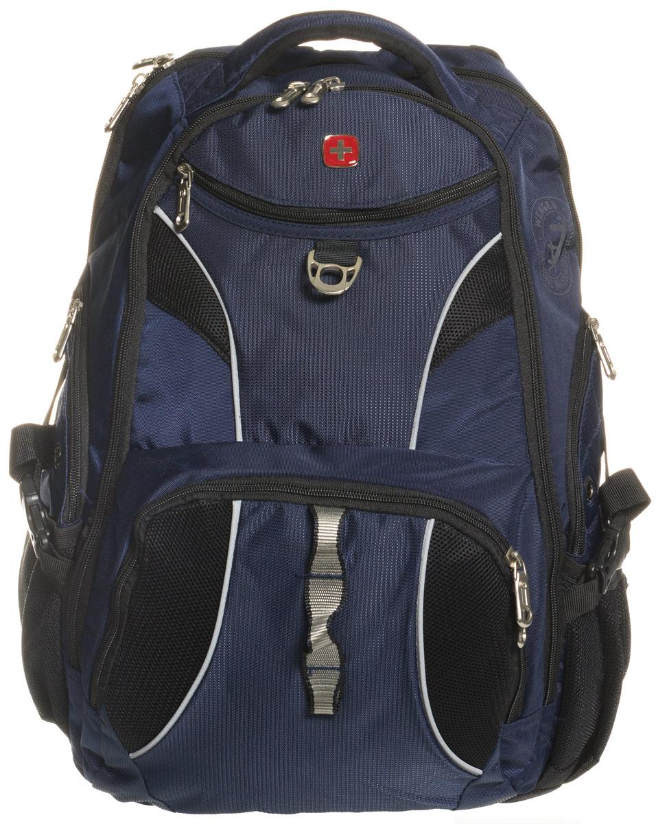 """Рюкзак """"Wenger"""", цвет: синий, черный, 34 см х 17 см х 47 см, 26 л"""