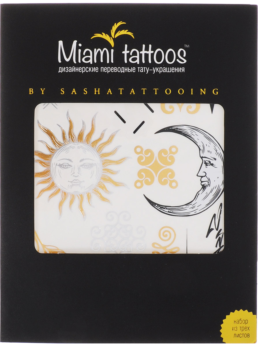 Miami Tattoos Флэш тату Miami Tattoos By Sashatattoing 3 листа 20 см х 15 см flash tattoos sheebani authentic metallic temporary tattoos