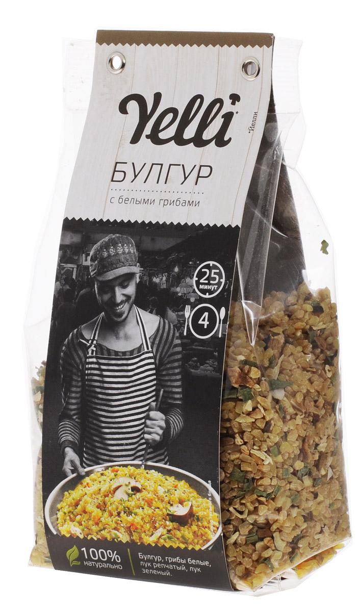 Yelli булгур с белыми грибами, 250 гЕЛ 118/7Булгур – неотъемлемая часть традиционной турецкой и средиземноморской кухни. Это продукт обработки пшеницы, сохраняющий ее полезные свойства и хорошо известный европейским поварам. Благодаря высокой способности впитывать вкусы различных ингредиентов, булгур прекрасно дополняет овощи, мясо или грибы. Булгур с белыми грибами Yelli – ароматное, быстрое и простое в приготовлении блюдо в лучших традициях турецкой кухни.Лайфхаки по варке круп и пасты. Статья OZON Гид