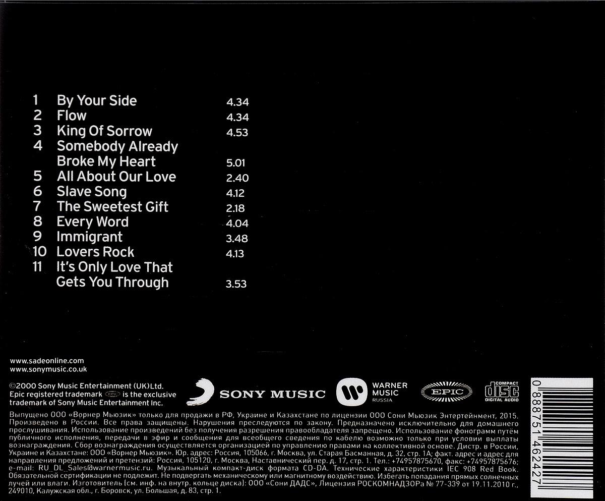 Sade.  Lovers Rock Warner Music