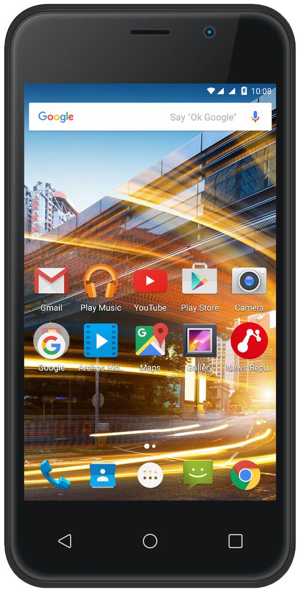 Archos 40 Neon40 NeonArchos 40 Neon – сбалансированный и доступный смартфон. 4-дюймовый экран достаточно большой, чтобы наслаждаться видео на ходу. Устройство оснащено современным четырёхъядерным процессором, который обеспечивает отличную производительность. Играя в игры или просматривая интернет-страницы, вы получите комфортный опыт работы. Это универсальный смартфон, которым удобно работать одной рукой.Мощное устройство в ваших руках. Archos 40 Neon использует производительный четырёхъядерный процессор, который способен справляться с требовательными приложениями. Многозадачность – одна из особенностей модели. Наслаждайтесь играми и приложениями, как никогда раньше.Вы любите делать фотографии? Тогда Archos 40 Neon это то, что вам нужно. С помощью основной 5 Мп камеры можно делать потрясающие фотографии везде. Фронтальная камера отлично подходит для селфи.Доступ к рабочим и личным контактам на одном устройстве. Вы можете одновременно использовать SIM-карты двух разных операторов связи для большей гибкости и удобства.Откройте для себя Android Lollipop 5.1 с Archos 40 Neon. ОС обеспечивает эффективное управление зарядом аккумулятора и оснащена рядом серьёзных улучшений. Полностью сертифицированным Google, этот смартфон включает в себя лучшие мобильные приложения Google, а также полный доступ к магазину Google Play с более 1,3 миллиона приложений и игр, а также музыке, фильмам, книгам и журналам. Получите максимум от Android.Телефон сертифицирован EAC и имеет русифицированный интерфейс меню и Руководство пользователя.