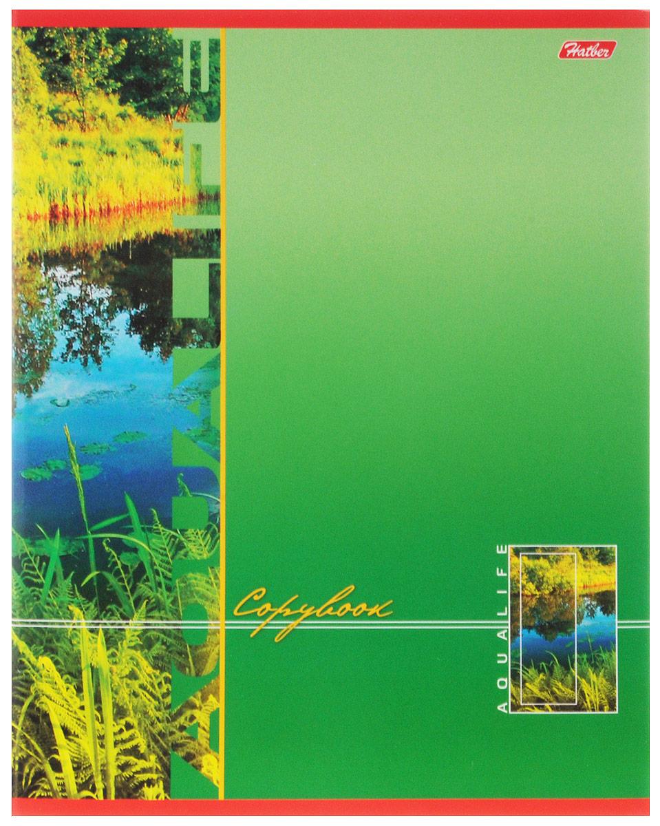 Hatber Тетрадь Аквалайф 80 листов в линейку цвет зеленый