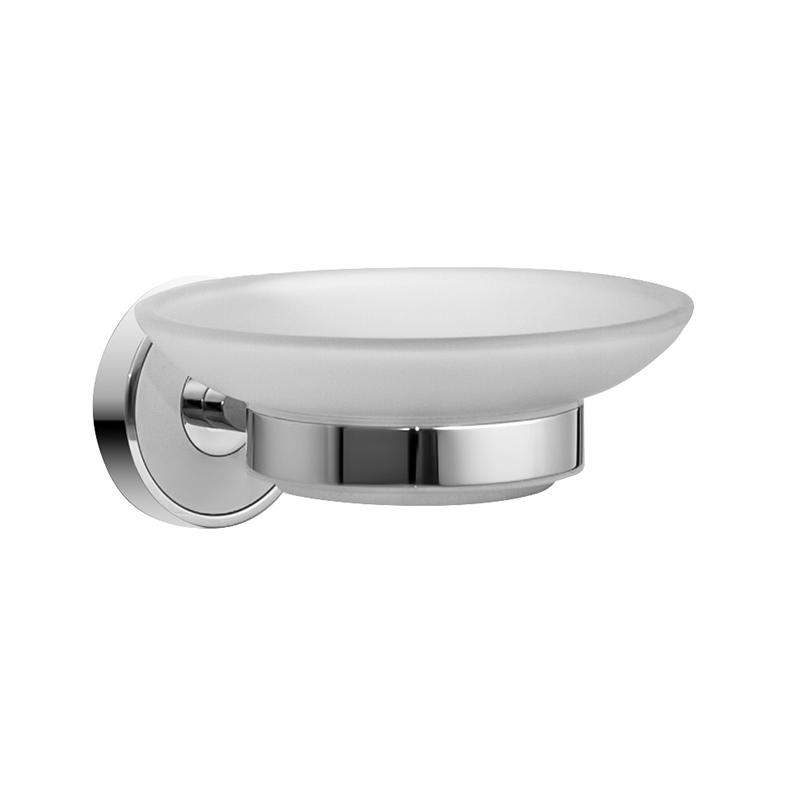 Мыльница настенная Iddis Calipso, цвет: хромCALMBG0i42Мыльница Iddis Calipso изготовлена из высококачественной латуни и матового стекла. Она является не только функциональным элементом, но и прекрасно украсит интерьер любой ванной комнаты. Мыльница крепится на стену с помощью саморезов (входят в комплект).