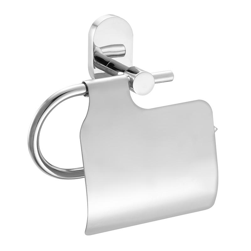 Держатель для туалетной бумаги Iddis Mirro Plus, с крышкой, цвет: хром держатель для туалетной бумаги tatkraft mega lock