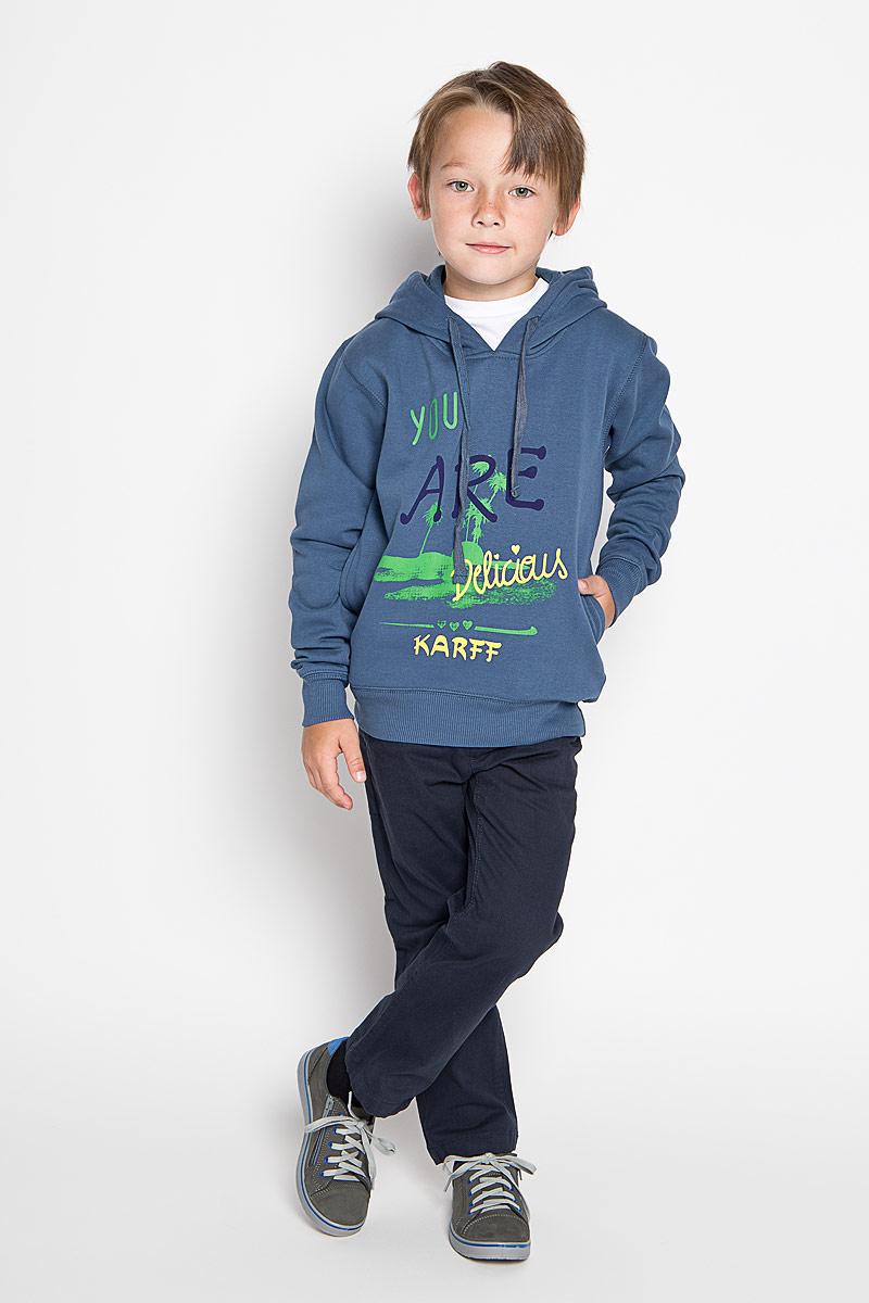 Толстовка для мальчика Karff, цвет: синий. 46029-02. Размер 122, 7-9 лет