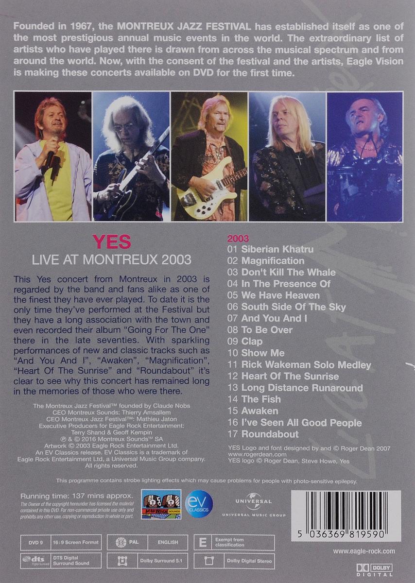 Yes:  Live At Montreux 2003 Eagle Rock Entertainment Ltd