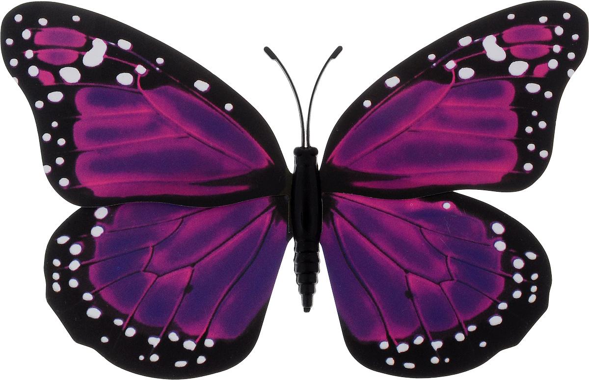 Фигура садовая Village people Тропическая бабочка, с магнитом, цвет: фиолетовый, черный, 11,5 х 9 см68610_28Ветряная фигурка Village People Тропическая бабочка, изготовленная из ПВХ, это не только красивое украшение, но и замечательный способ отпугнуть птиц с грядок. При дуновении ветра бабочка начинает порхать крыльями. Изделие оснащено магнитом, с помощью которого вы сможете поместить его в любом удобном для вас месте. Яркий дизайн фигурки оживит ландшафт сада.