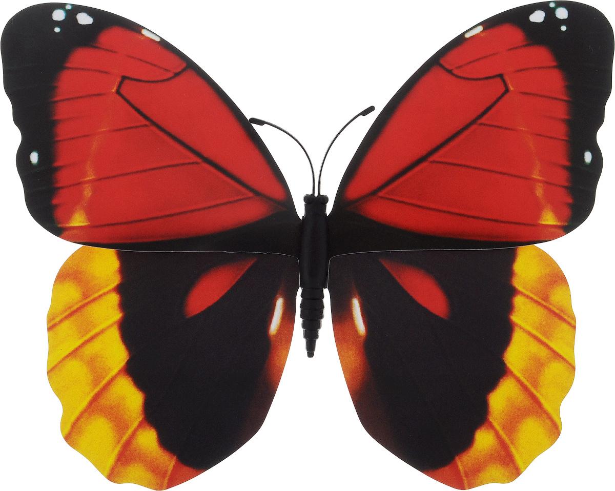 Фигура садовая Village people Тропическая бабочка, с магнитом, цвет: красный, желтый, черный, 11,5 х 9 см68610_31Ветряная фигурка Village People Тропическая бабочка, изготовленная из ПВХ, это не только красивое украшение, но и замечательный способ отпугнуть птиц с грядок. При дуновении ветра бабочка начинает порхать крыльями. Изделие оснащено магнитом, с помощью которого вы сможете поместить его в любом удобном для вас месте. Яркий дизайн фигурки оживит ландшафт сада.