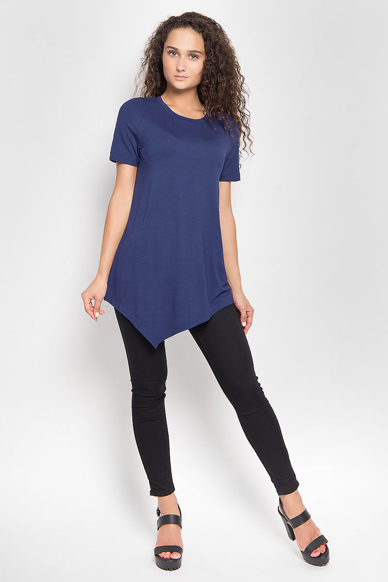 Футболка женская Ruxara, цвет: темно-синий. 1202700_22. Размер 42 футболка женская ruxara цвет молочный 1202700 6 размер 52