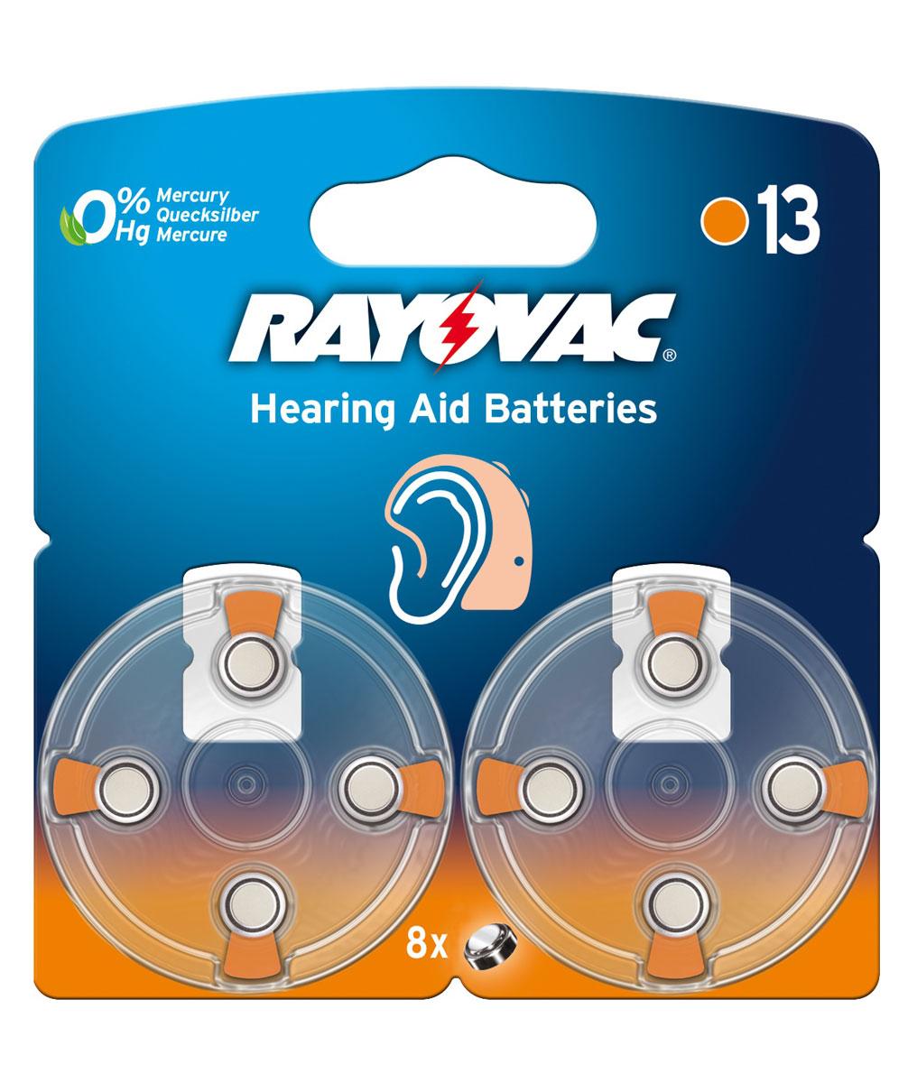 Батарейка для слуховых аппаратов Varta Rayovac Acoustic, тип 13, 1,45В, 8 шт13/PR48Батарейки Varta Rayovac Acoustic обеспечат идеальную работу слуховых аппаратов. Длительное время работы при высоких уровнях напряжения - преимущество этой специальной линейки. Не содержат ртути. Диаметр/Высота: 7,8/5,4 (мм). Электрохимическая схема: оксид цинка (ZN/O2). Мощность 310 mAh. Форм-фактор: PR48.Вес: 0,8 г.