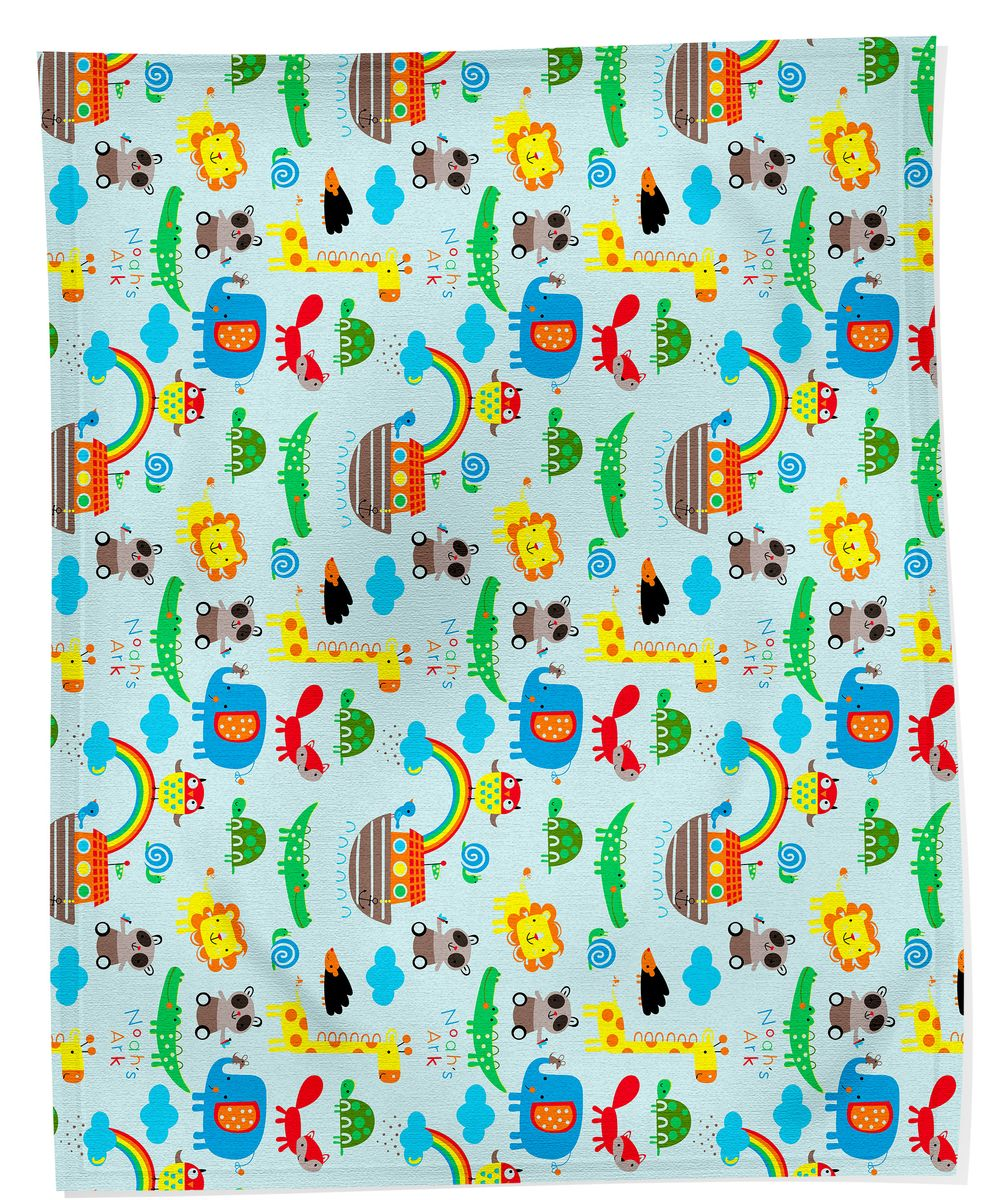 Bonne Fee Плед детский Радуга 100 см х 145 см, цвет: голубой плед hongda уют 2x2 2m white 877312