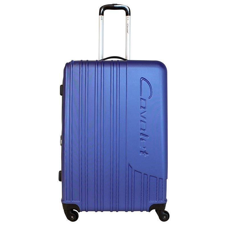 Чемодан-тележка Cavalet Malibu Luggage, 103+20 л, цвет: темно-синий. 858-70-70858-70-70Чемодан-тележка Cavalet на четырех колесах идеально подходит для поездок и путешествий. Корпус имеет жесткую конструкцию и выполнен из ударопрочного пластика. Чемодан имеет одно вместительное отделение для хранения одежды и аксессуаров, с возможностью увеличения объема. Отделение закрывается на застежку-молнию и замок. Внутри сетчатый карман на молнии и багажные ремни для фиксации. Внутренняя поверхность изделия отделана полиэстером.В верхней части чемодана предусмотрена ручка для переноски. На одной из боковых сторон - пластиковые ножки, на другой - дополнительная ручка для переноски.Чемодан оснащен удобной телескопической ручкой. Стильный и удобный чемодан-тележка Cavalet вместит все необходимые вещи и станет незаменимым аксессуаром во время поездок.