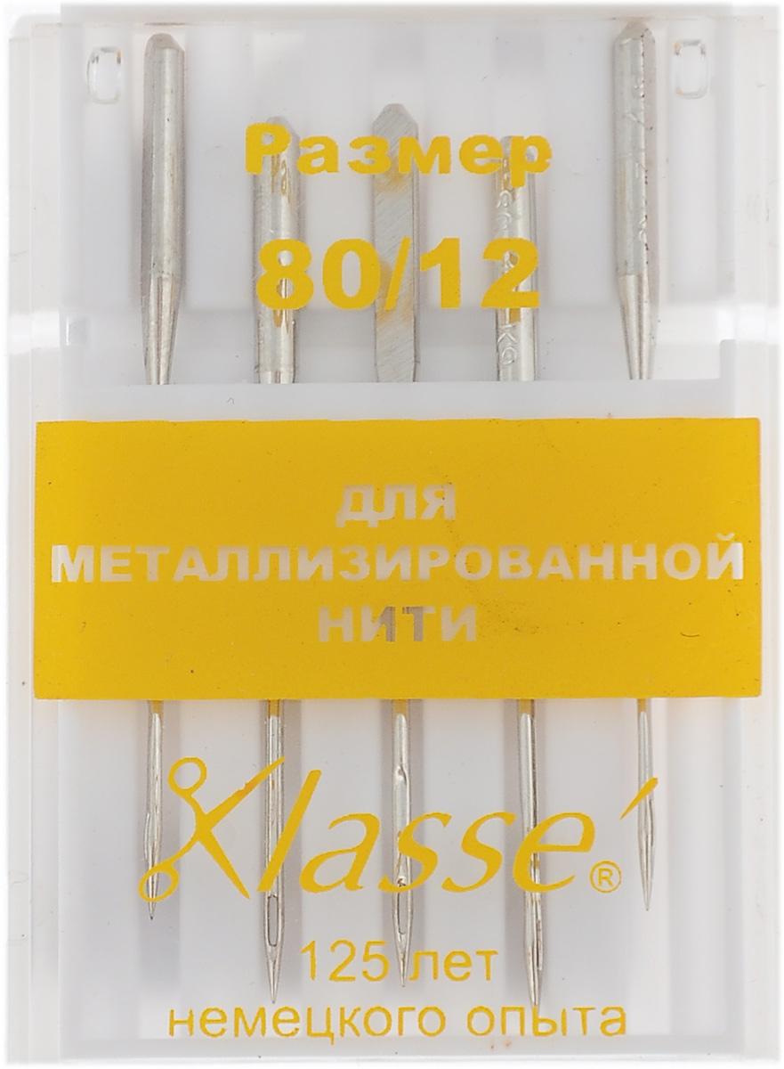 Иглы для бытовых швейных машин Hemline, для металлизированной нити, №80, 5 шт. A6145/80A6145/80Иглы Hemline для металлизированной нити идеально подходят для шитья и вышивки нитками металлик. Более крупное ушко иглы разработано специально для таких ниток, кроме того нить очень легко вдеть в иглу. Отполированное ушко иглы предотвращают отслаивание металлической нити.В комплекте пластиковый футляр для переноски и хранения.Размер: 80/12.
