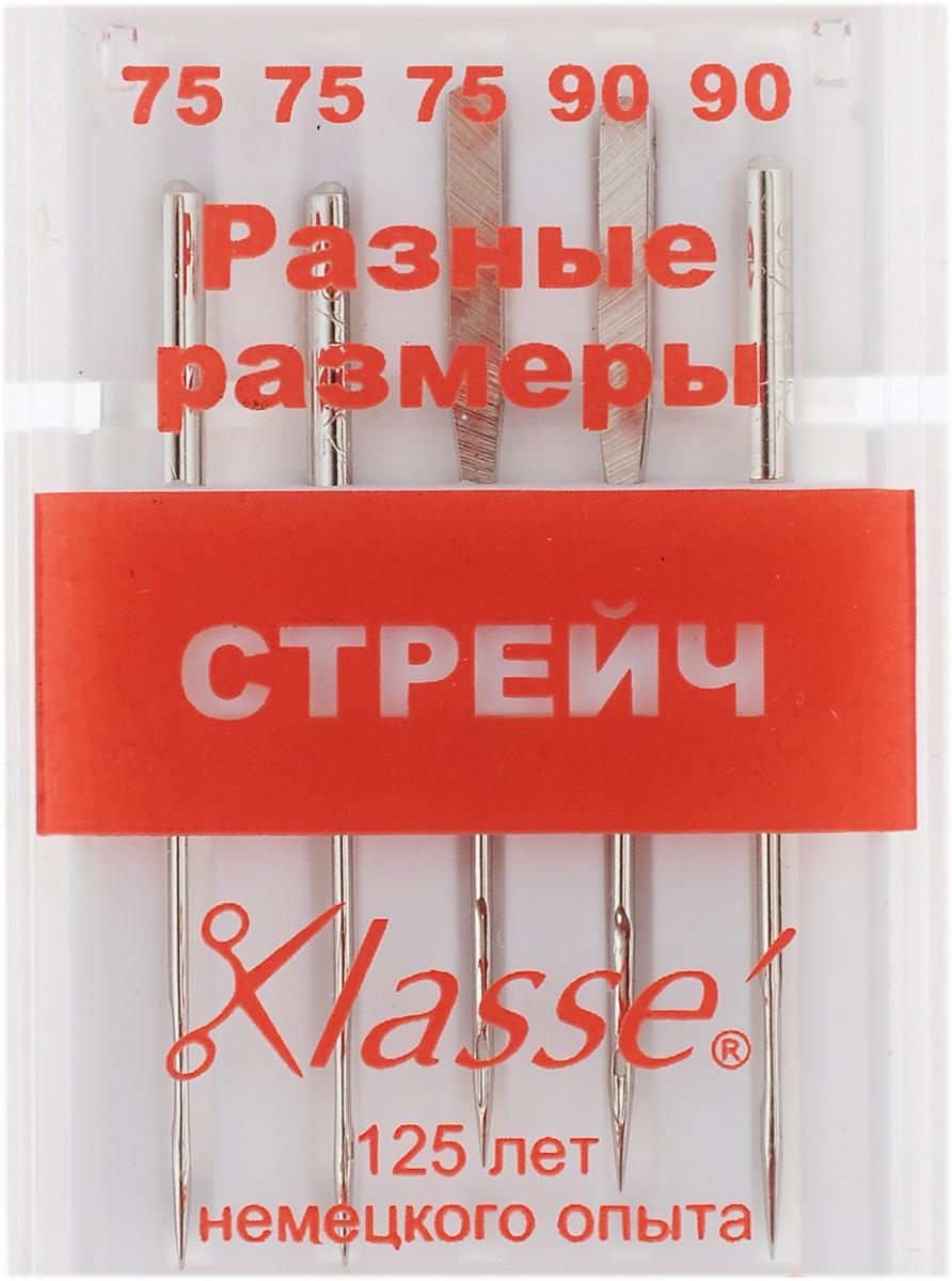 """Иглы для бытовых швейных машин """"Hemline"""", для стрейча, №75, 90, 5 шт"""