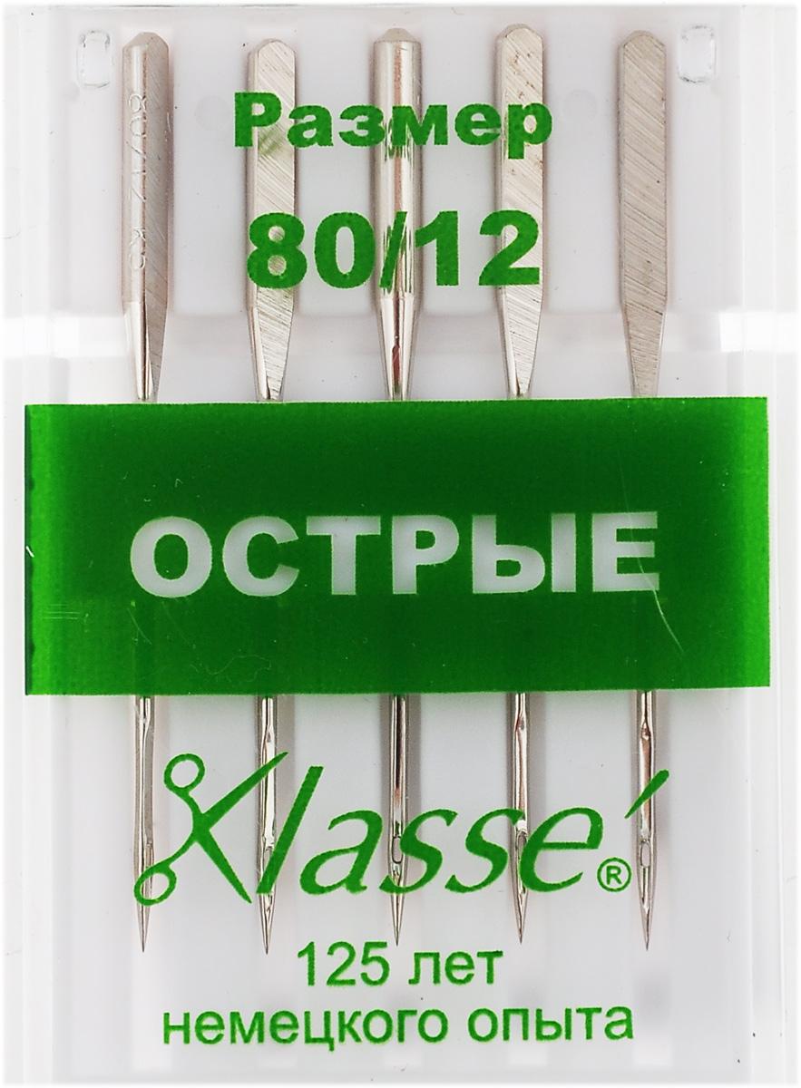 Иглы для бытовых швейных машин Hemline, c острым кончиком, №80, 5 шт. A6135/80A6135/80Острые иглы Hemline, выполненные извысококачественной стали, идеально подходят дляшелка, тканей с микрофиброй и других плотнотканыхматериалов. Острый кончик разработан для совершеннопрямых стежков в отстрочке и обработке петель. Подходят для всех современных швейных машин.В комплекте пластиковый футляр для переноски ихранения. Размер: 80/12.