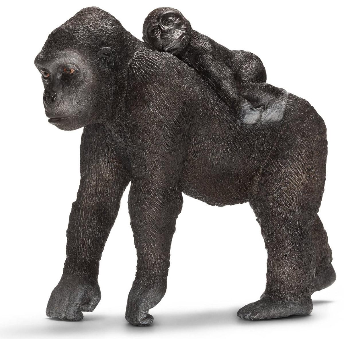 Schleich Фигурка Самка гориллы с детенышем фигурки игрушки schleich шимпанзе самка с детенышем