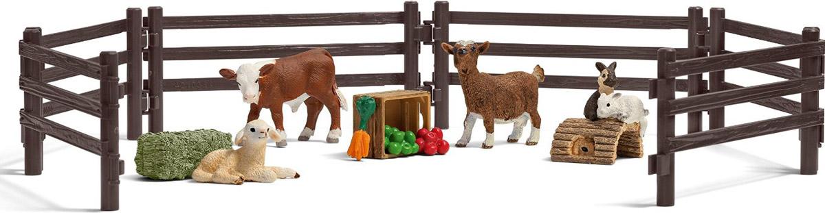 Schleich Набор фигурок Детский зоопарк 4 шт теленок черный ангус schleich
