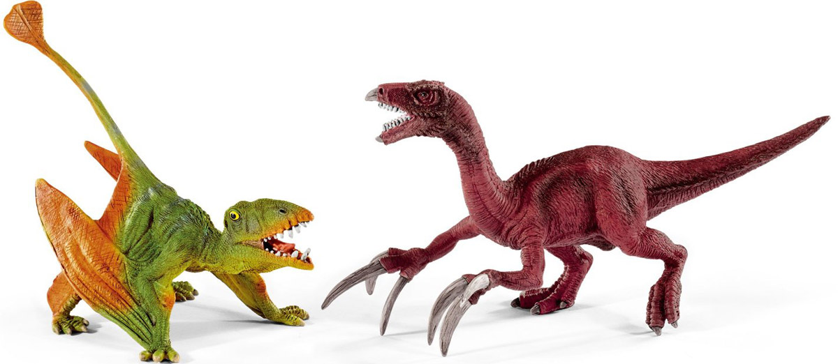 Schleich Набор фигурок Диморфодон и теризинозавр schleich игровой набор пещера со львом