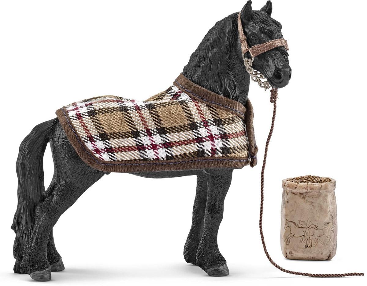 Schleich Игровой набор Кормление и уход за фризской лошадью schleich корм для коров и телят