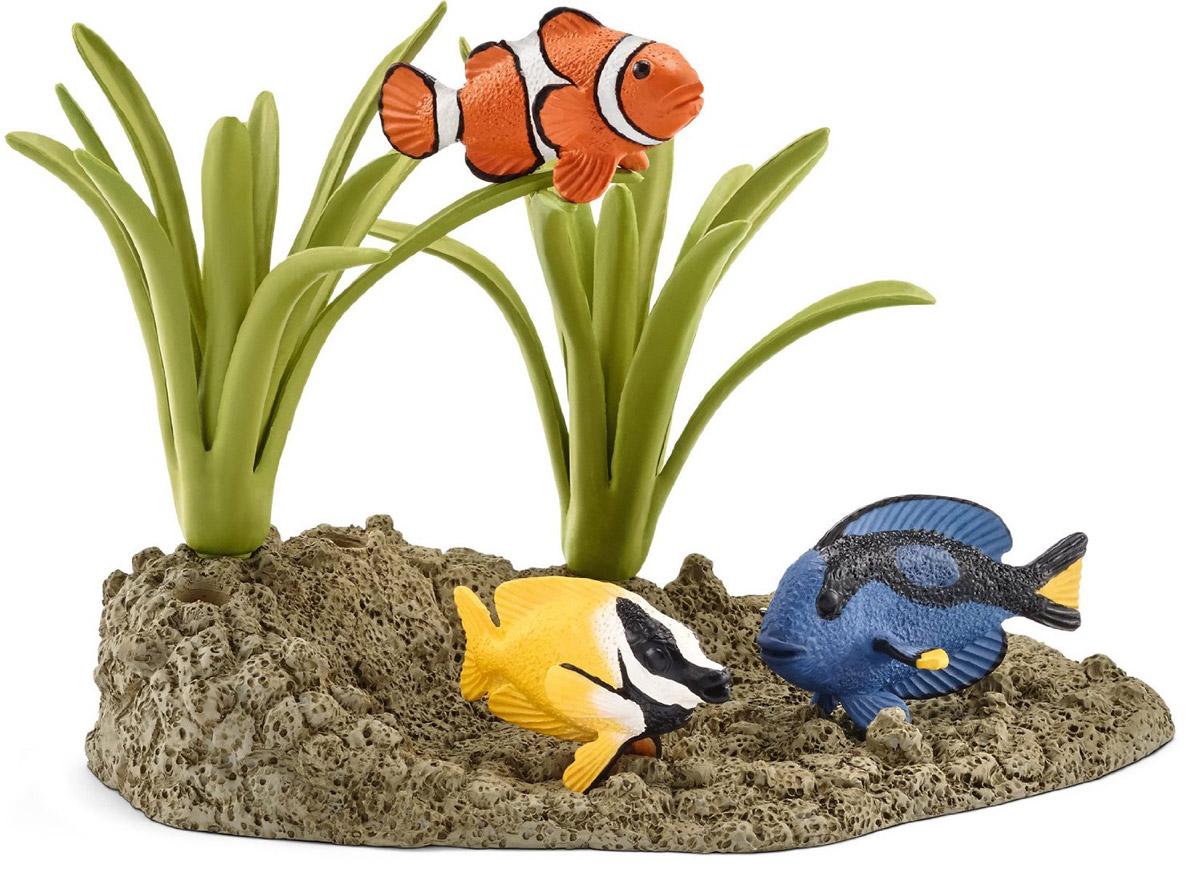 Schleich Набор фигурок Коралловые рыбки 3 шт schleich набор фигурок кормление на ферме 3 шт