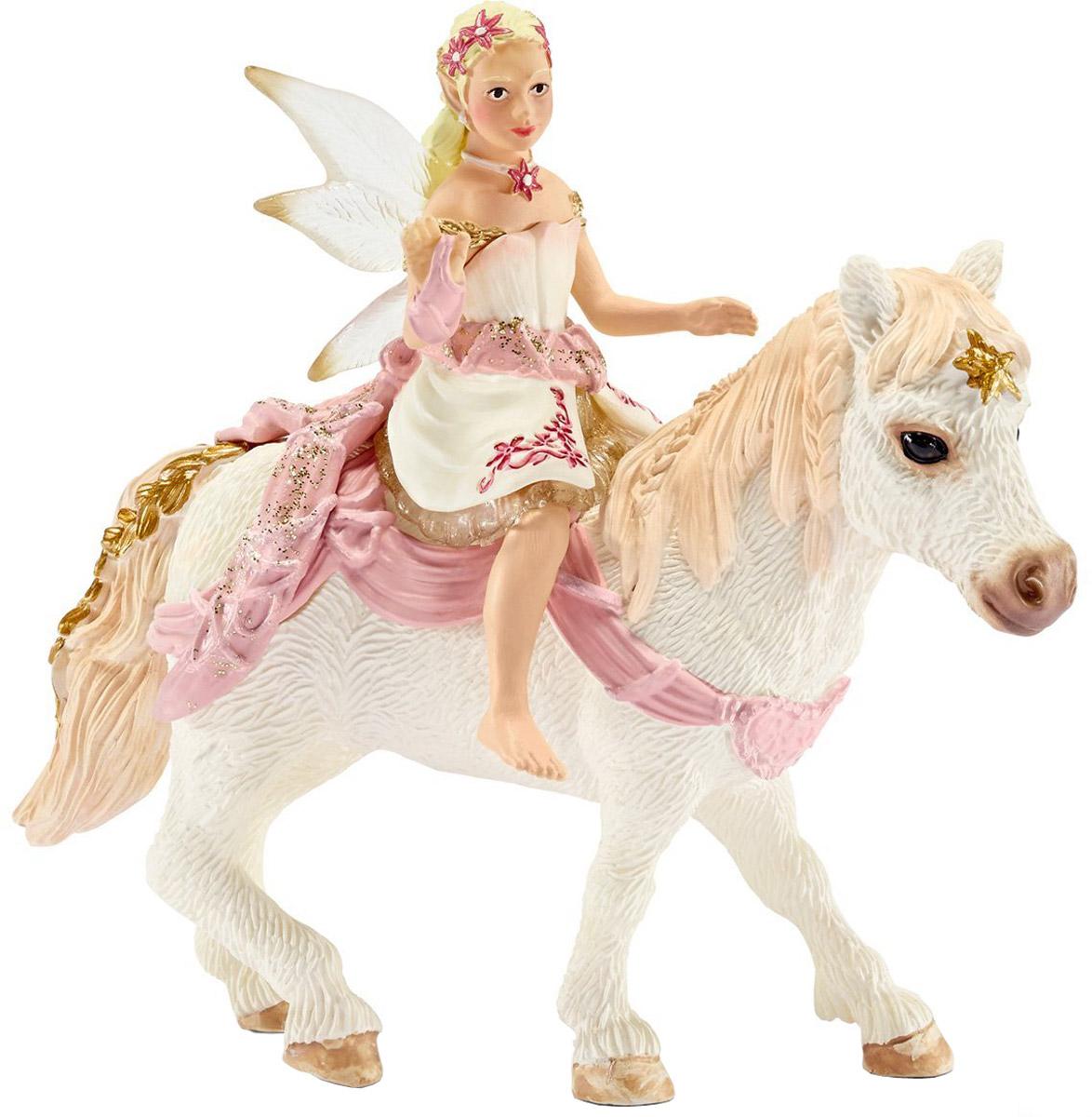 Schleich Фигурка Эльфийка Нежная Лилия верхом на пони конюх и исландский пони schleich