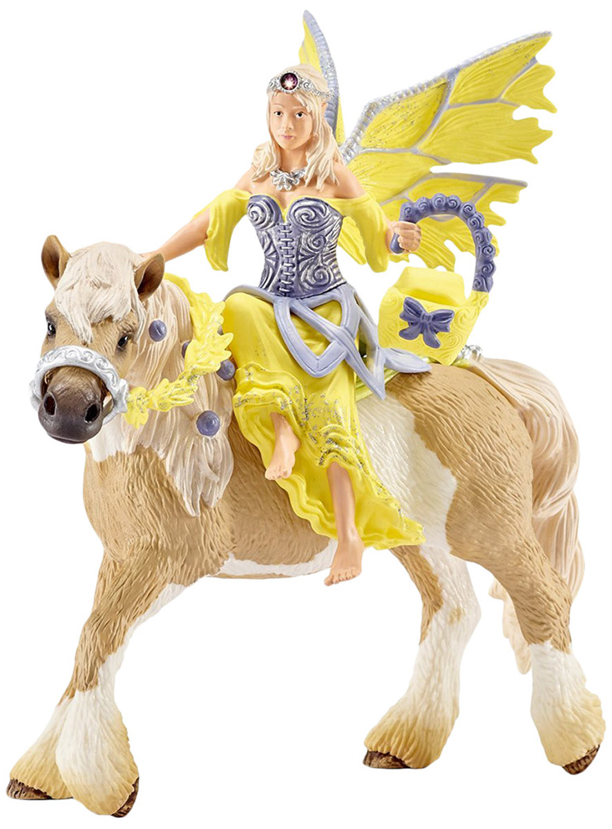 Schleich Фигурка Эльфийка Сера на лошади schleich фигурка карликовый козел