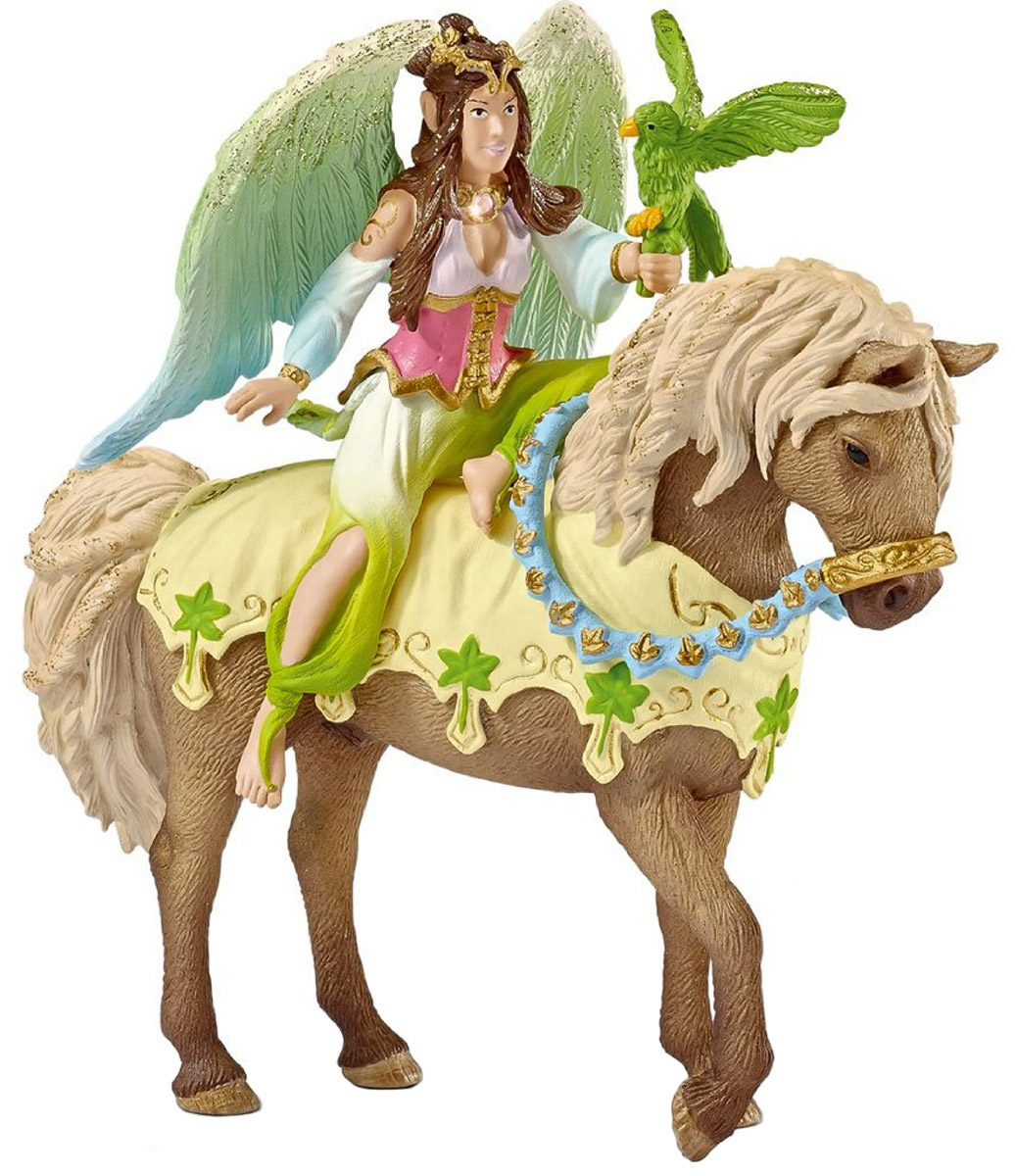 Schleich Фигурка Эльфийка Сурах на лошади игрушка schleich фигурка андалузская кобыла
