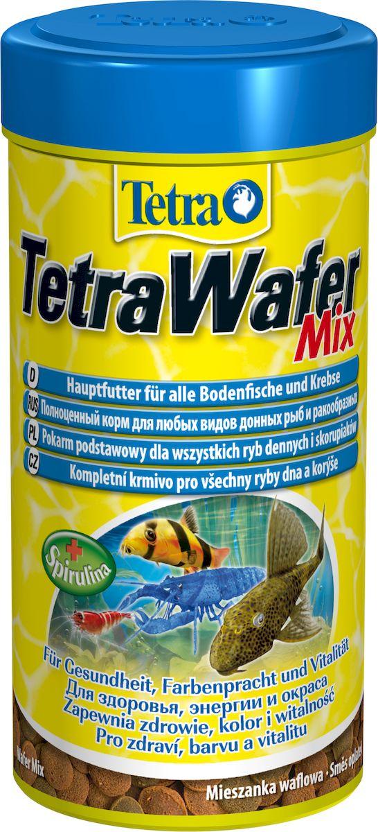 Корм сухой TetraWafer Mix для всех донных рыб и ракообразных, в виде пластинок, 250 мл