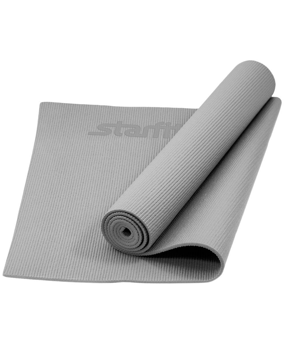 Коврик для йоги Starfit FM-101, цвет: серый, 173 x 61 x 0,5 смУТ-00008833Коврик для йоги Star Fit FM-101 - это незаменимый аксессуар для любого спортсмена как во время тренировки, так и во время пре-стретчинга (растяжки до тренировки) и стретчинга (растяжки после тренировки). Выполнен из высококачественного ПВХ. Коврик используется в фитнесе, йоге, функциональном тренинге. Его используют спортсмены различных видов спорта в своем тренировочном процессе.Предпочтительно использовать без обуви. Если в обуви, то с мягкой подошвой, чтобы избежать разрыва поверхности коврика.