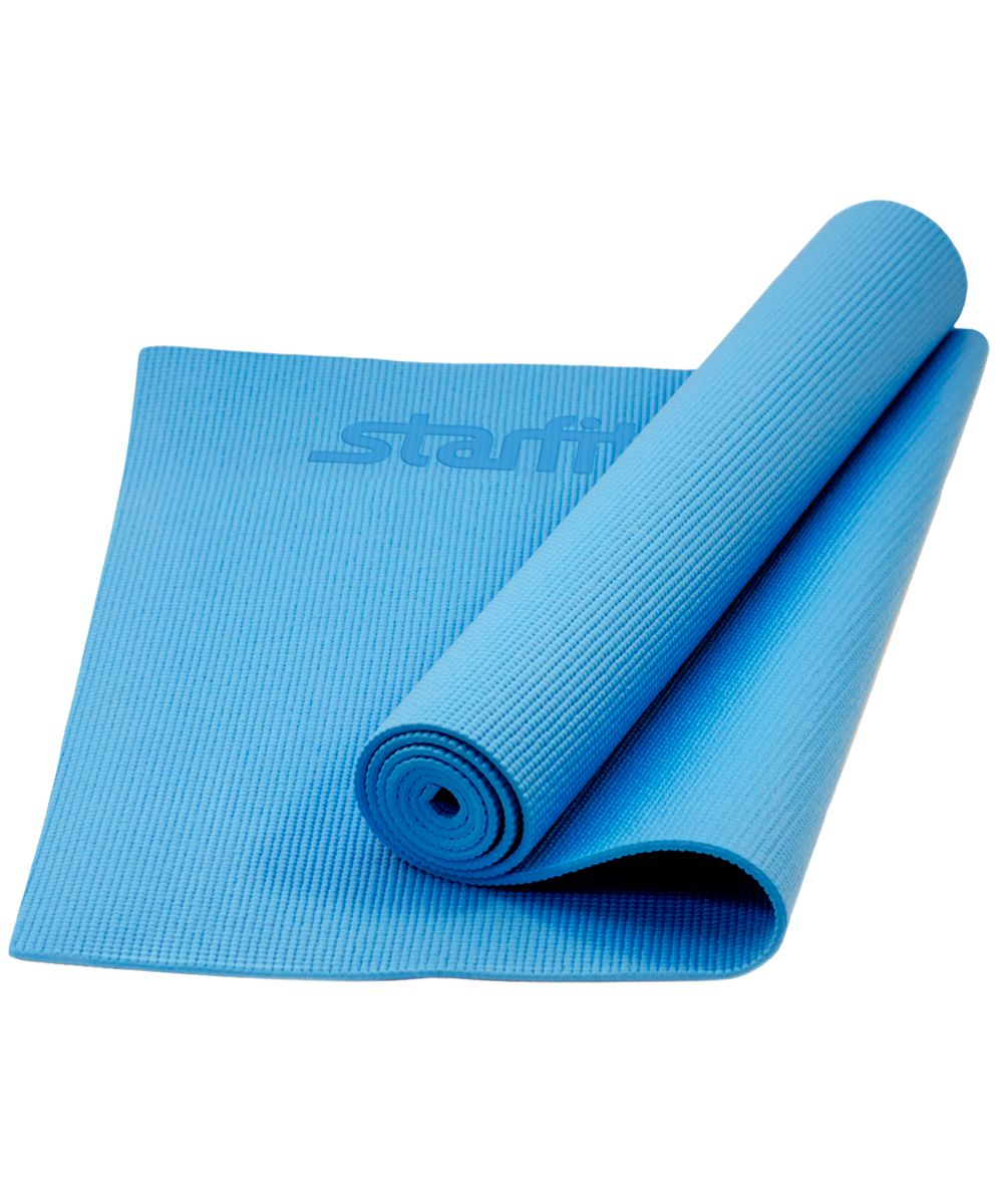 Коврик для йоги Starfit FM-101, цвет: синий, 173 х 61 х 1 смУТ-00008839Коврик для йоги Star Fit FM-101 - это незаменимый аксессуар для любого спортсмена как во время тренировки, так и во время пре-стретчинга (растяжки до тренировки) и стретчинга (растяжки после тренировки). Выполнен из высококачественного ПВХ. Коврик используется в фитнесе, йоге, функциональном тренинге. Его используют спортсмены различных видов спорта в своем тренировочном процессе.Предпочтительно использовать без обуви. Если в обуви, то с мягкой подошвой, чтобы избежать разрыва поверхности коврика.