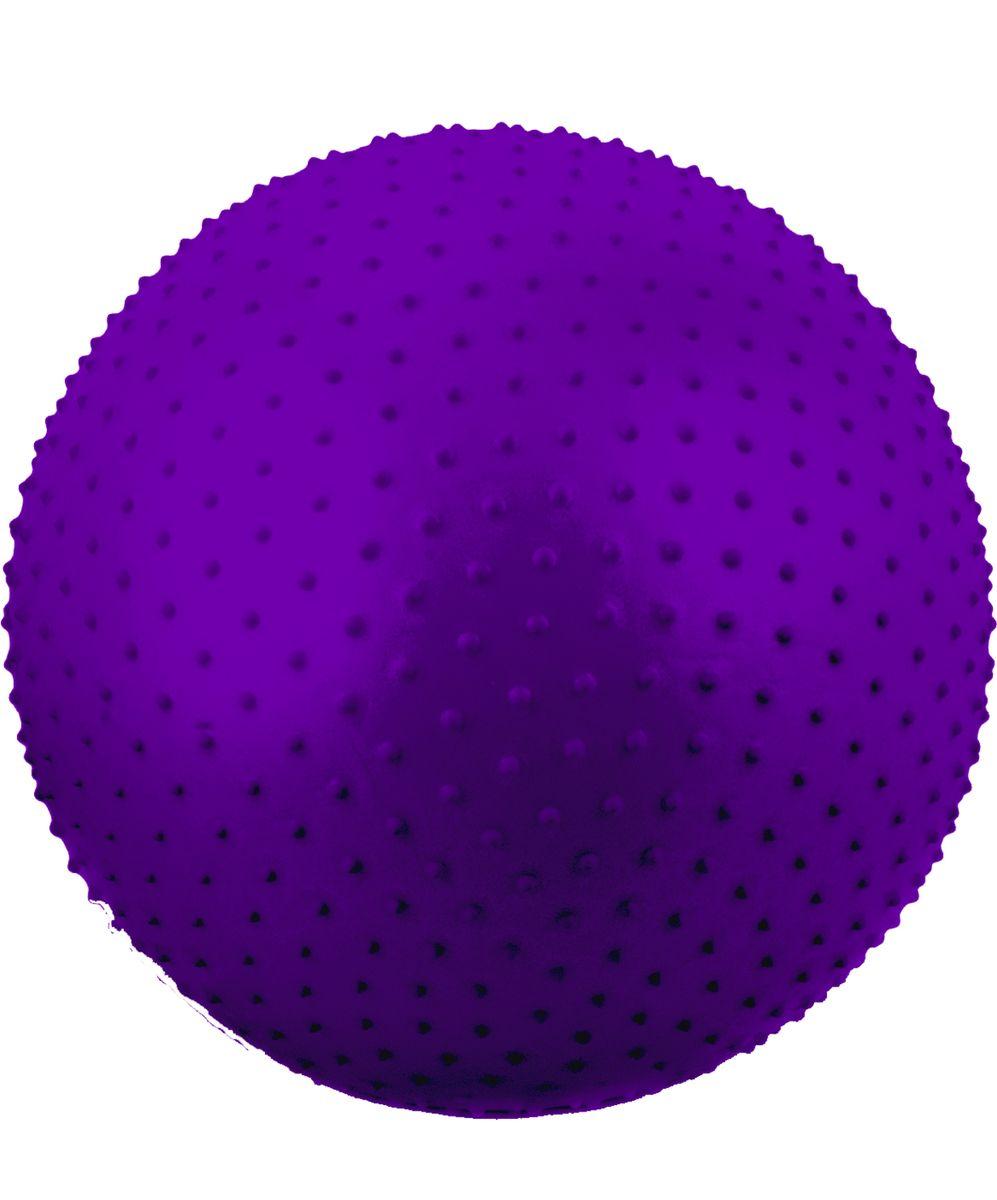 Мяч гимнастический Starfit, антивзрыв, массажный, цвет: фиолетовый, диаметр 55 см эспандеры starfit эспандер starfit es 702 power twister черный 50 кг