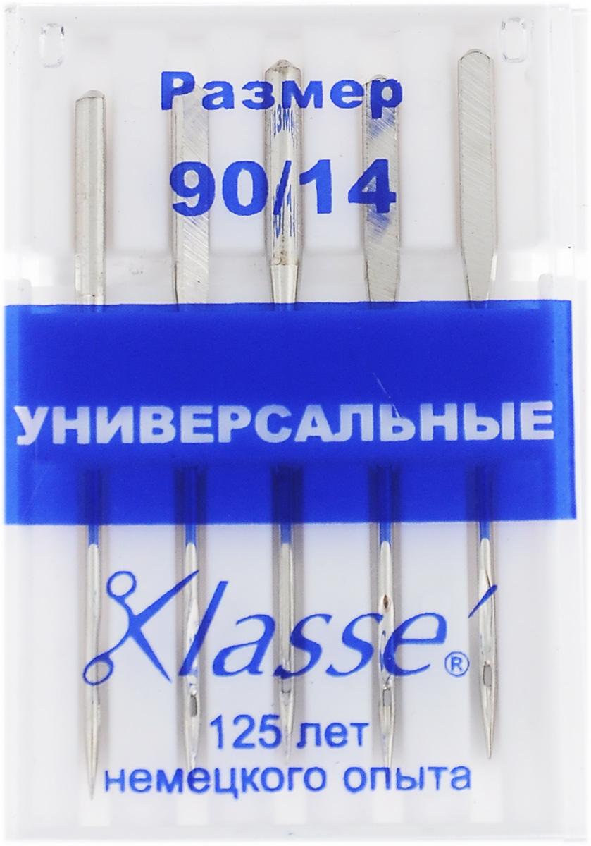 """Иглы для бытовых швейных машин """"Hemline"""", универсальные, №90, 5 шт. A6100/90"""