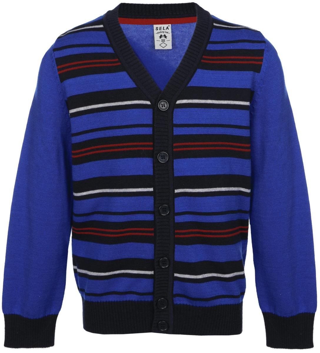 Кардиган для мальчика Sela, цвет: синий. CN-714/144-6322. Размер 92, 2 года брюки max&co max&co ma111ewikr66