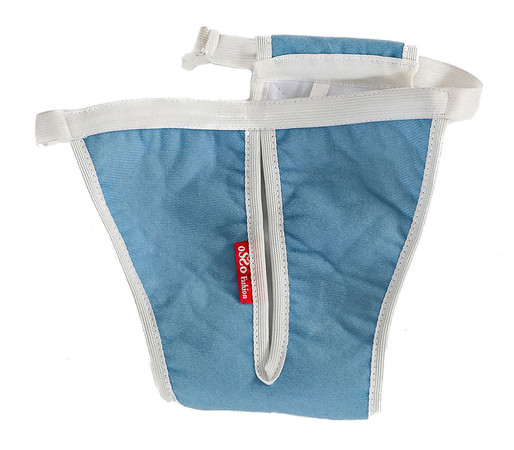 Трусы для собак OSSO Fashion Absorb, для девочки, многоразовые, цвет: голубой, белый. Размер XSТ-1020Комфортные трусы для собак OSSO Fashion Absorb изготовлены из высокотехнологичной абсорбирующей ткани с впитывающей мембраной, дышащим верхним и непромокаемым нижним слоем. Трусы имеют дышащую поверхность благодаря уникальной микропористой структуре мембран. Они защищают дом от пятен во время течки или при незначительном подтекании мочи и надежно удерживают запах. Многоразовые трусы для собак имеют ограниченную емкость, поэтому не могут быть использованы вместо памперса. Выдерживают более 300 стирок. Трусы имеют регулируемый эластичный пояс с пластиковой застежкой для фиксации и широкое отверстие для хвоста. Такие трусы легко надеваются и удобны для собаки.Обхват талии: 21-40 см.Глубина: 23 см.