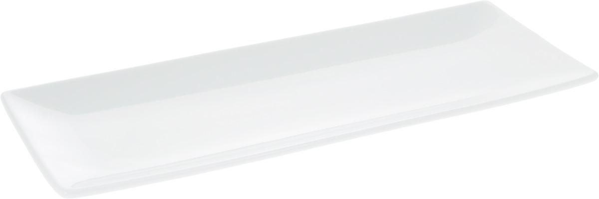 Блюдо Wilmax, прямоугольное, 30,5 х 12 смWL-992015 / AБлюдо Wilmax прямоугольной формы изготовлено из высококачественного фарфора, покрытого слоем глазури. Изделие предназначено для подачи горячих блюд, нарезок, закусок, канапе, а также различных сладостей. Такое блюдо пригодится в любом хозяйстве, оно подойдет как для праздничного стола, так и для повседневного использования. Блюдо функциональное, практичное и легкое в уходе. Изделие можно мыть в посудомоечной машине и ставить в микроволновую печь.