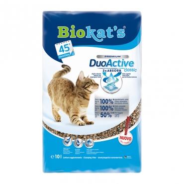 Наполнитель для кошачьего туалета Biokat's  DuoActive Classic , комкующийся, 10 л - Наполнители и туалетные принадлежности - Наполнители