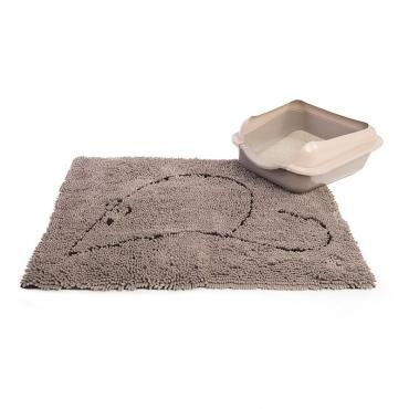 Коврик для кошек Dog Gone Smart, цвет: серый, 51 х 79 см4680265019595Супервпитывающий коврик Dog Gone Smart для кошек изготовлен из микрофибры, созданной по новейшим технологиям, впитывает огромное количество воды, очень быстро сохнет.Коврик сохраняет чистоту полов в вашем доме и помогает поддерживать гигиену. Нижняя сторона коврика изготовлена из резины, что позволяет фиксировать его в нужном месте.Этот супервпитывающий коврик универсален: - можно использовать в клетке, как место отдыха питомца, так как он очень мягкий и приятный на ощупь;- в качестве коврика под миски, благодаря чему полы возле мисок всегда будут чистыми и сухими;- в качестве коврика возле лотка, благодаря чему остатки наполнителя не будут разносится по дому, а будут оставаться на коврике;- в качестве коврика у входной двери.Коврик необходимо стирать отдельно от прочих вещей. Нельзя использовать кондиционер и отбеливатель. После стирки коврик выжать и повесить для сушки.
