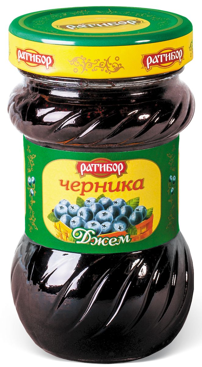 Ратибор джем Черника, 360 г побеги черники в аптеке