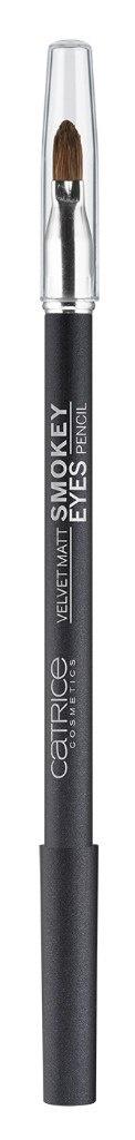 Catrice Контур для глаз Velvet Matt Smokey Eyes Pencil 040 Steel The Show темно-серый с блеском, 5 гр