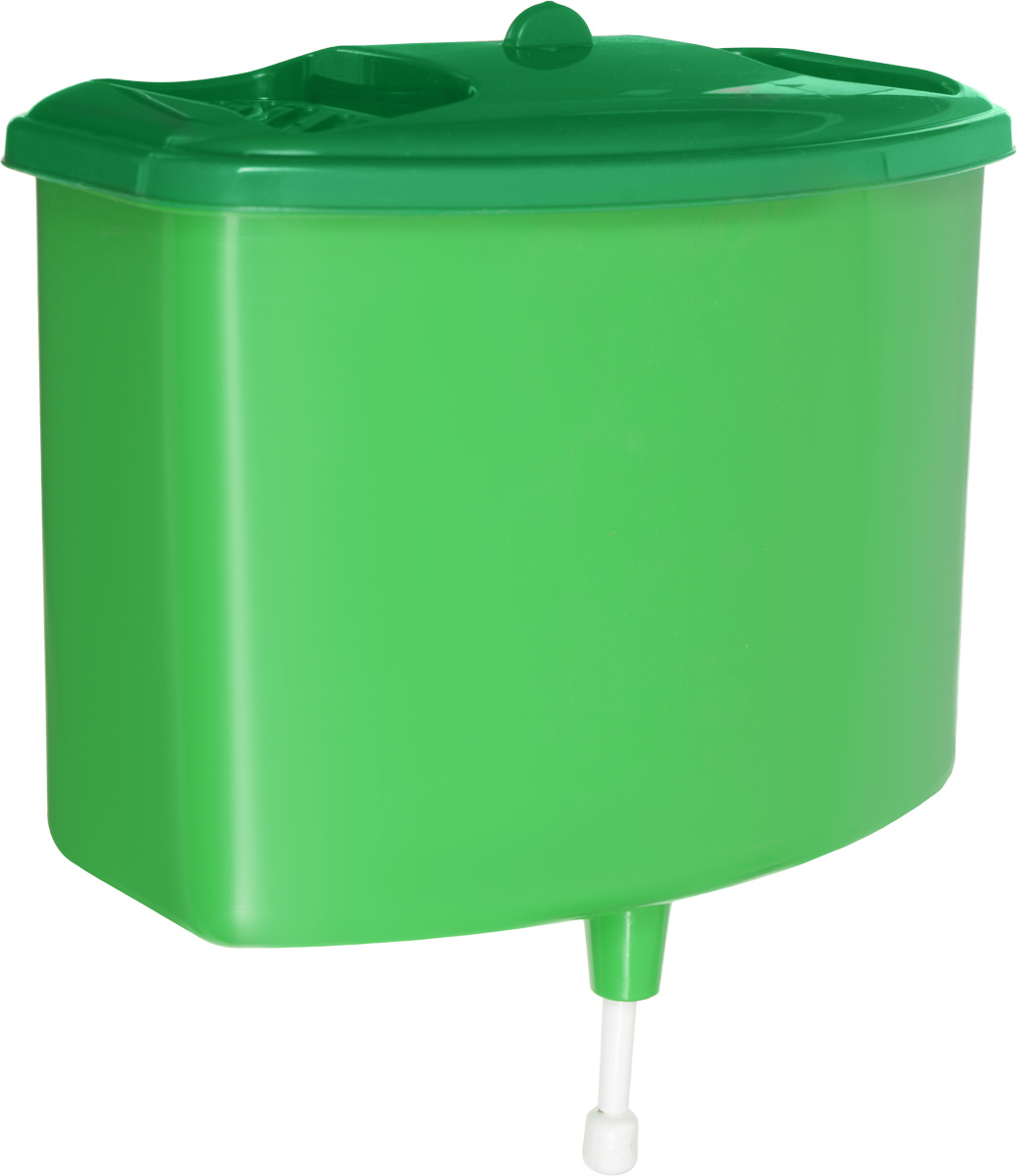 Рукомойник Альтернатива, цвет: зеленый, 5 лM367Рукомойник Альтернатива изготовлен из пластика. Он предназначен для умывания в саду или на даче. Яркий и красочный, он отлично впишется в окружающую обстановку. Петли предоставляют вертикальное крепление рукомойника. Рукомойник оснащен крышкой, которая предотвращает попадание мусора. Также на крышке имеет две выемки для мыла. Рукомойник Альтернатива надежный и удобный в использовании.Размер рукомойника: 26,5 см х 15 см.Высота (без учета крышки): 23 см.